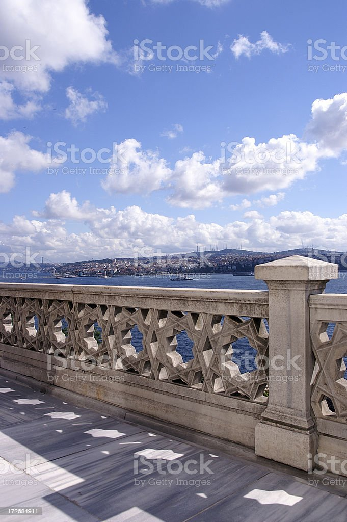Panorama view on Istambul royalty-free stock photo