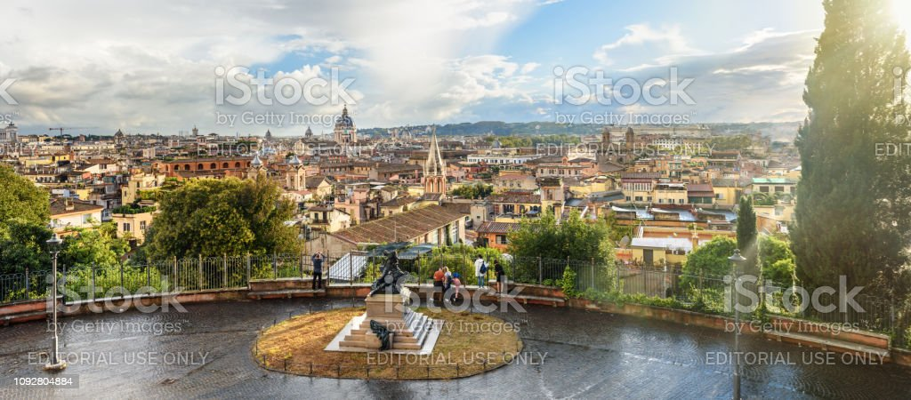 Panorama View On Rome From Terrazza Viale Del Belvedere