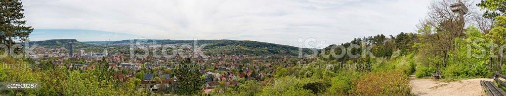 Panorama view over Jena Germany stock photo