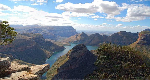 panorama view to blyde river canyon southafrica stock photo