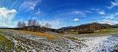 A panorama winter landscape near Arnbruck, Bavaria
