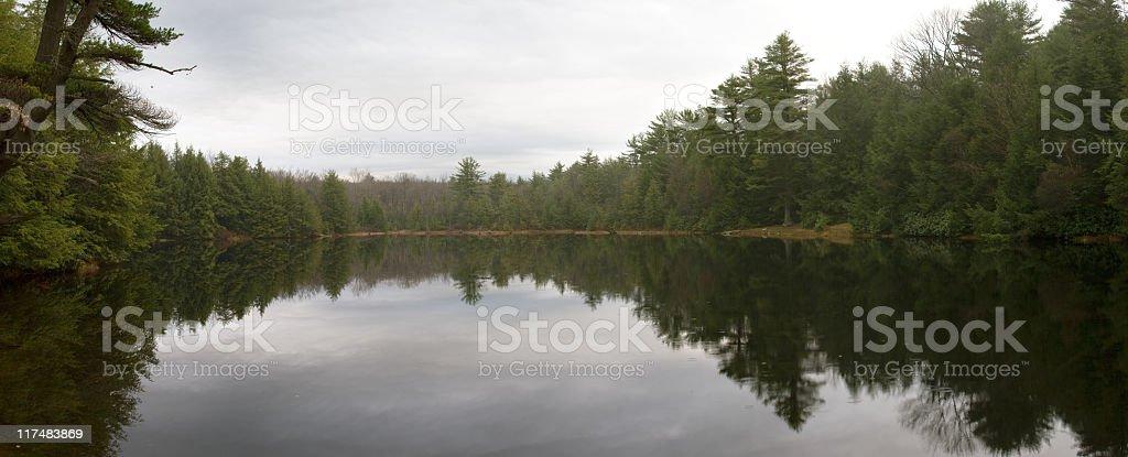 Panorama XXXL: Lake with reflections royalty-free stock photo