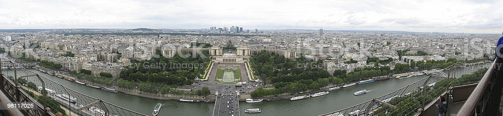 Panorama_1 of Paris from Eiffel Tower royalty-free stock photo