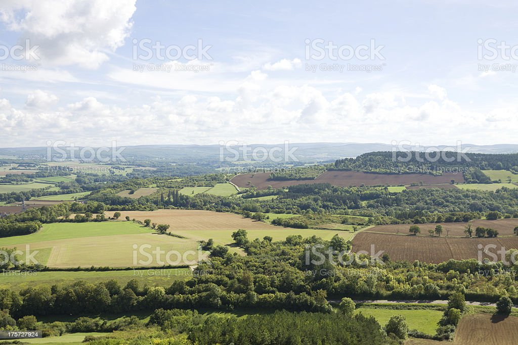 Panoramic aerial view in France royalty-free stock photo
