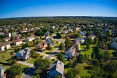 istock Panoramic aerial view of a upscale suburbs in Atlanta 1292500139