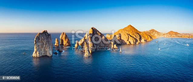 Panoramic Aerial View of Cabo San Lucas in Baja california Sur, Mexico.