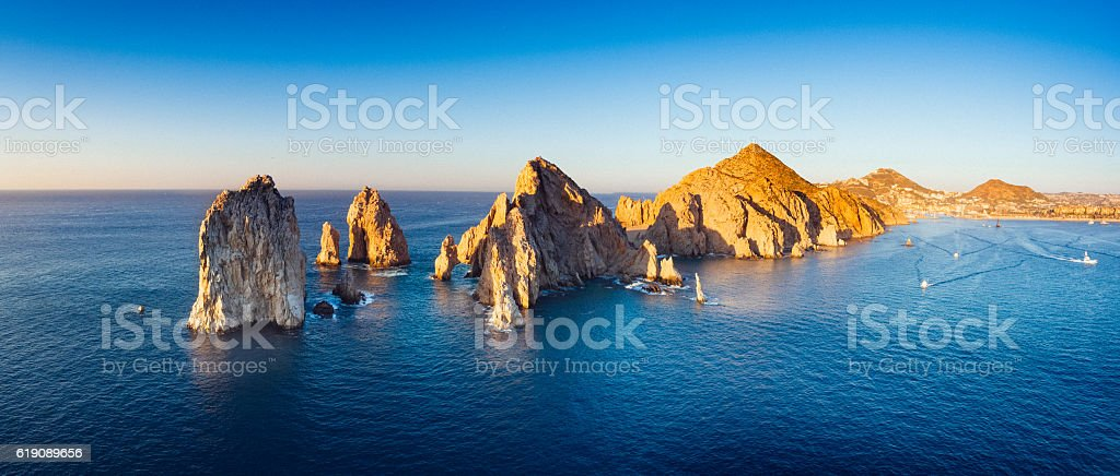 Panoramic Aerial View of Cabo San Lucas Mexico - foto de stock