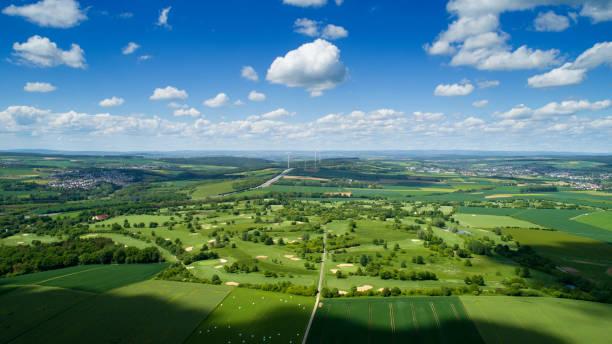 Panoramablick auf die deutsche Landschaft - Rheingau-Taunus – Foto