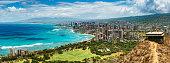 Panoramic Aerial View of Honolulu, Oahu. Hawaii.