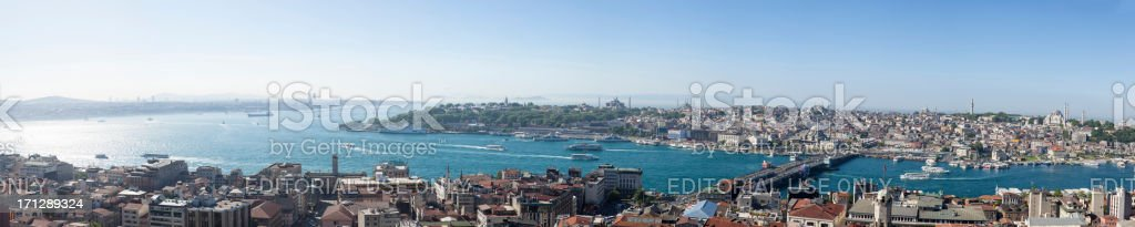 Panoramic aerial view of Istanbul stock photo