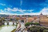 istock Panoramic aerial view of Rome 1263884594