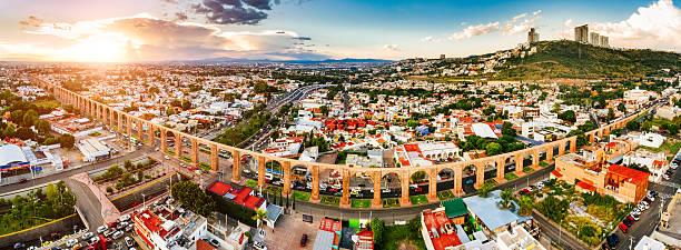 vista panorámica vista aérea delaware santiago delaware querétaro, méxico - queretaro fotografías e imágenes de stock