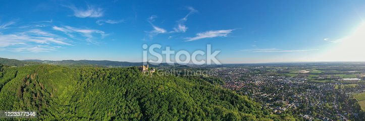 Heildeberg, Germany - July 29, 2018: The castle is very beautiful indeed and majestically dominates the city of Heildeberg. It is returned from history not in perfect condition but without having lost its charm.