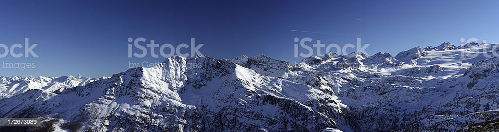 Panoramic Alps in winter time royalty-free stock photo
