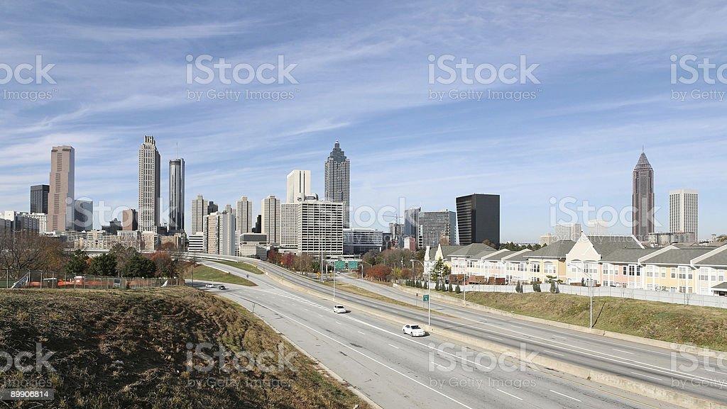 Panoramic Atlanta Skyline royalty-free stock photo