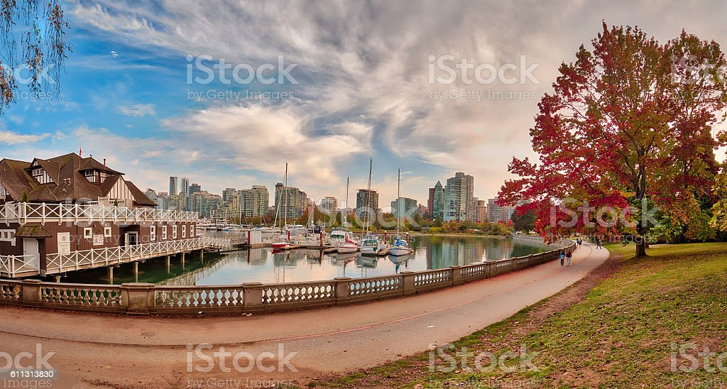 Panoramic Autumn View stock photo