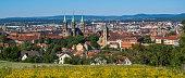 Panoramic Bamberg German Old Town
