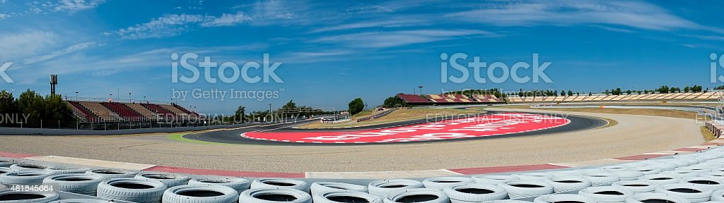 Panoramic Barcelona circuit. Barcelona, Spain. stock photo