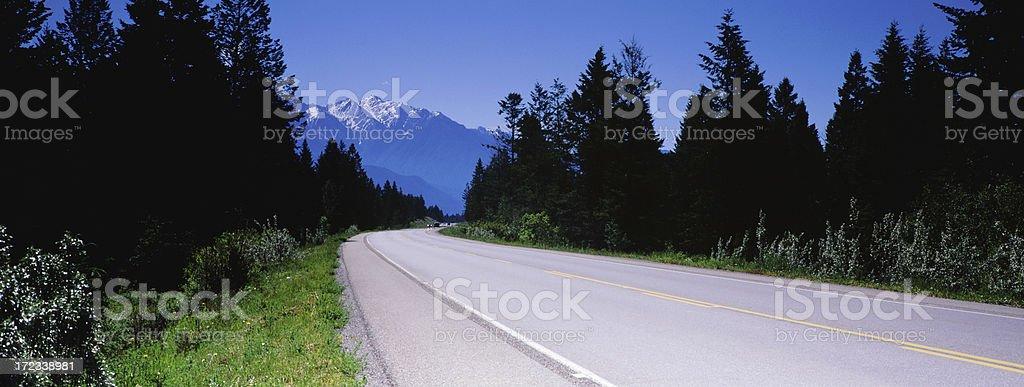 Panoramic BC Road royalty-free stock photo