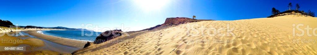 Panoramic Beach in the Sun stock photo