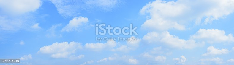 Panoramic blue sky and white clouds.