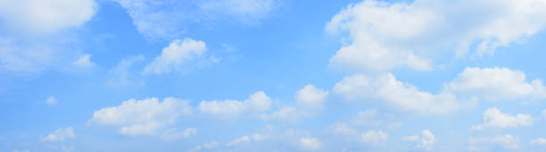 panoramic blue sky and white clouds. - cloud sky stock pictures, royalty-free photos & images
