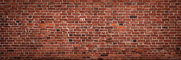 mur de briques panoramique avec espace copie - brique photos et images de collection