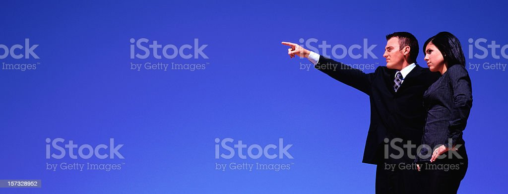 Panoramic Business Couple royalty-free stock photo