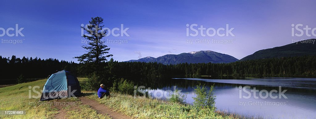 Panoramic Camping royalty-free stock photo