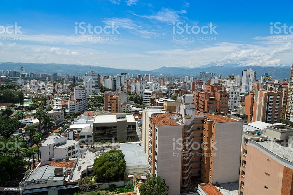Panoramic city of Bucaramanga, Colombia. stock photo
