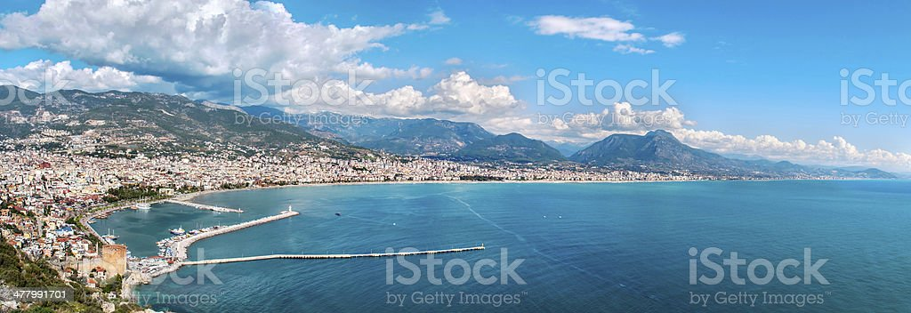 Panoramic cityscape of Alanya/Turkey royalty-free stock photo