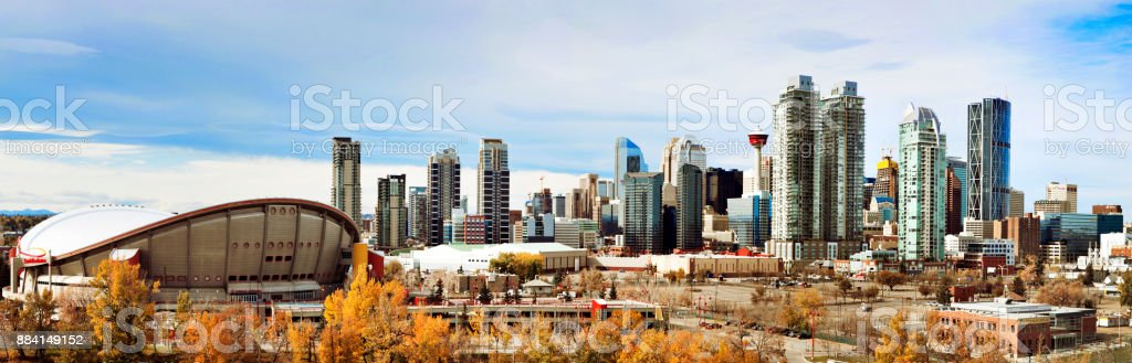 Panorama Stadtbild von Calgary, Alberta, Kanada – Foto