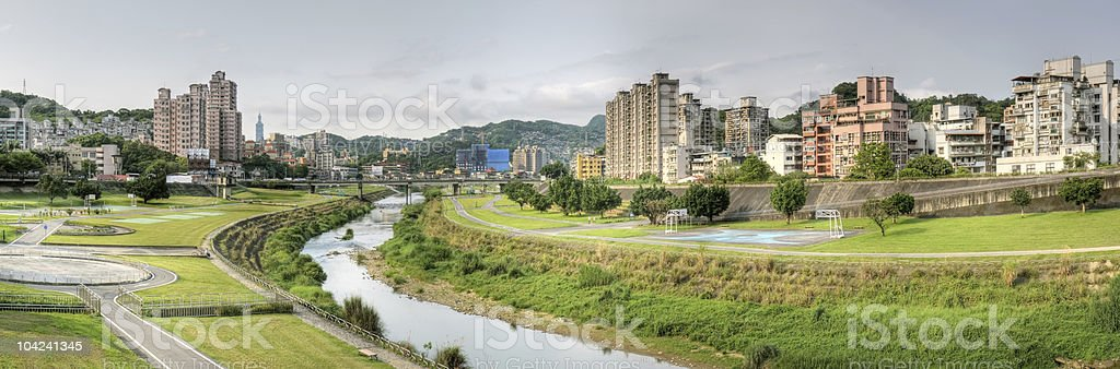 Panoramic cityscape royalty-free stock photo