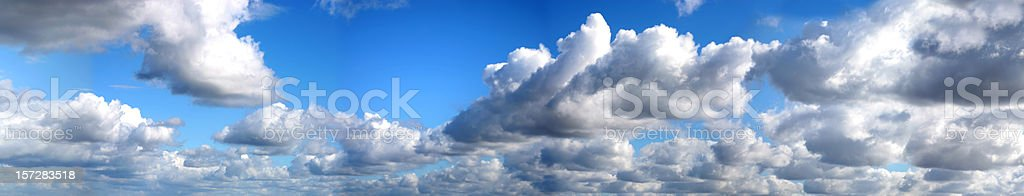 panoramic clouds royalty-free stock photo