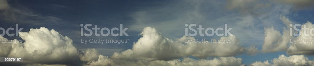 Panoramic Clouds (XXXL) royalty-free stock photo