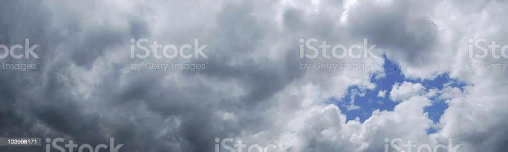 Panoramic Cloudscape royalty-free stock photo