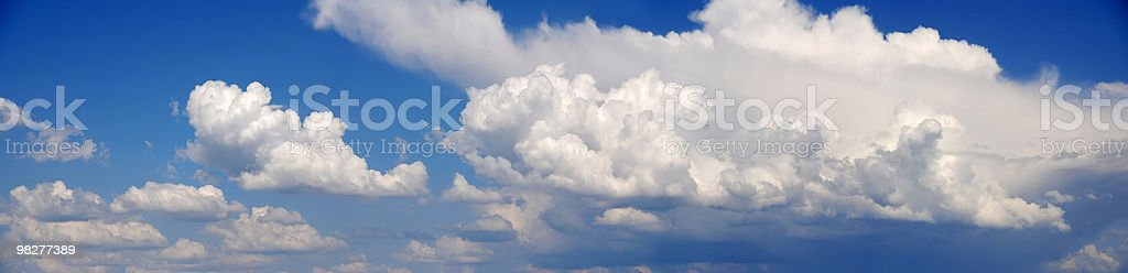 XXL Panoramic Cloudscape royalty-free stock photo