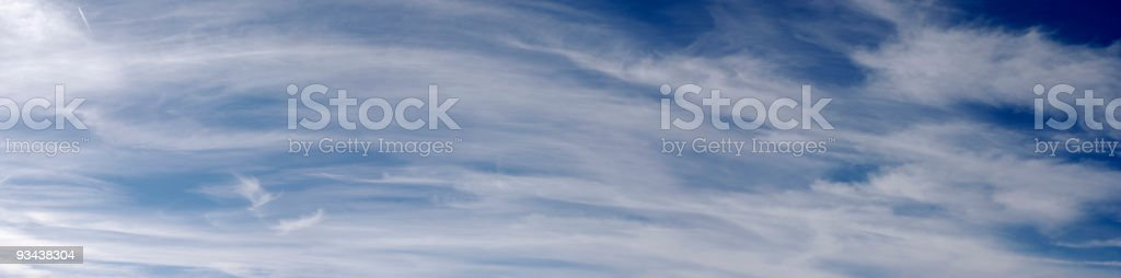 panoramic cloudscape with cirrus cloud royalty-free stock photo
