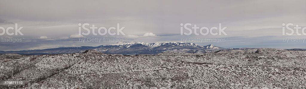 Panoramic Composition of Blanca Peak royalty-free stock photo