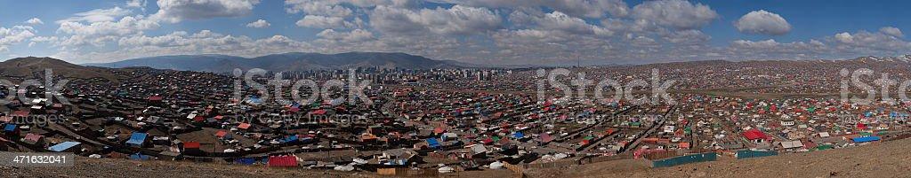 Panoramic Composition of UlaanBaatar royalty-free stock photo
