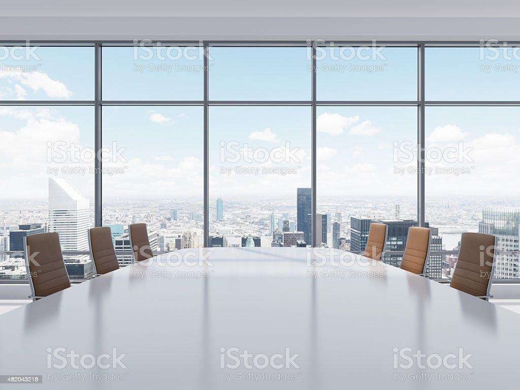 Panorama Konferenzraum Im Modernen Büro In New York City Stock ...