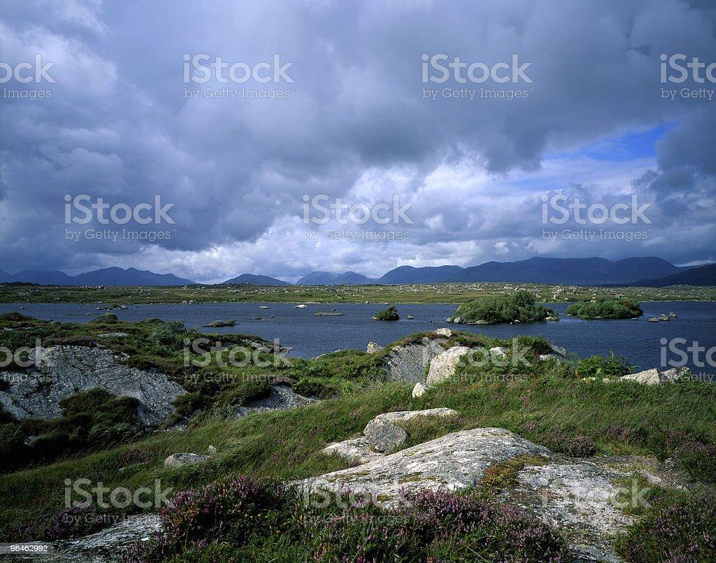 Panoramic Connemara royalty-free stock photo