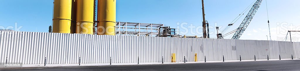 Panoramic Construction Site View royalty-free stock photo