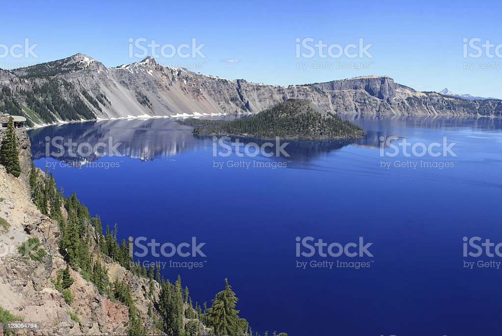 Panoramic Crater Lake, Or - Royalty-free Blue Stock Photo