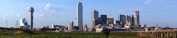 Panoramic Dallas Texas Skyline stock photo