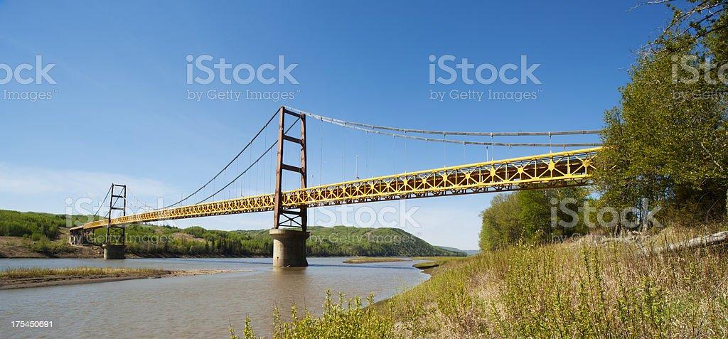 Panoramic Dunvegan Bridge stock photo
