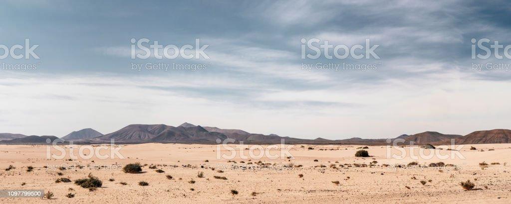 Panorama leeren Wüste Hintergrund - Lizenzfrei Abenteuer Stock-Foto
