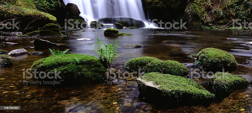 Panoramic Falls in Washington stock photo