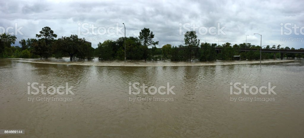 Panoramic flood stock photo