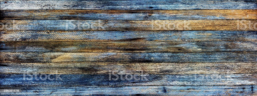 panoramic grunge background of old wooden royalty-free stock photo